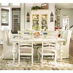 Paula Deen by Universal Paula Deen Home Paula's Table w/ Wing Chairs & Side Chairs - 996653+2x996638+4x996634