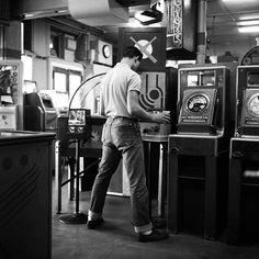 "argonauticos: "" bastardkeaton: Penny arcade at 620 Canal St., New Orleans Photo by Jack Robinson, circa 1955 """