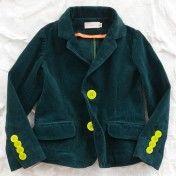 franky grow green corduroy blazer