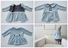 Tutorial: hacer un abrigo de bebé reciclando un jersey