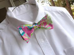 Mens Lilly Pulitzer Bow Tie in Make a Splash by LWhelanDesigns, $36.00