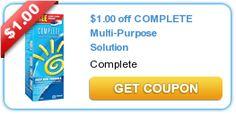 $1.00 off COMPLETE Multi-Purpose Solution