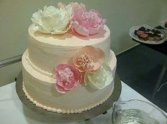 A menyasszonyi torta.......a virágokat csináltam én