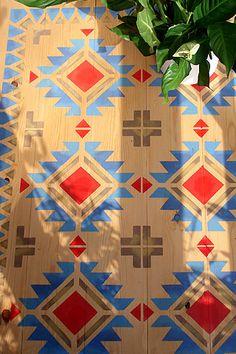 Navajo Four Corners Tile Stencil