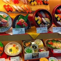 Japan has some of the best plastic food displays