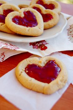 PB and J Heartprint Cookies