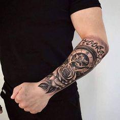 tattoo upper arm for men * tattoo upper arm - tattoo upper arm women - tattoo upper arm inner - tattoo upper arm for men - tattoo upper arm women half sleeves - tattoo upper arm women inner - tattoo upper arm sleeve - tattoo upper arm women small Tattoos Masculinas, Tattoos Arm Mann, Forarm Tattoos, Forearm Sleeve Tattoos, Watch Tattoos, Best Sleeve Tattoos, Tattoo Sleeve Designs, Tattoo Designs Men, Flower Tattoos