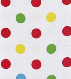 Oilcloth By The Yard - Big Dot Red - this would be fun for bowl covers