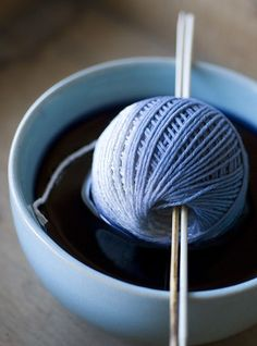 Ombre yarn dyeing.