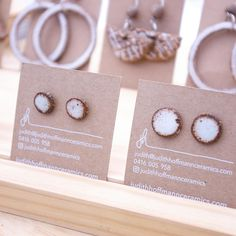 Studs and hoops and more. Earrings by Judith Hoffmann ceramics