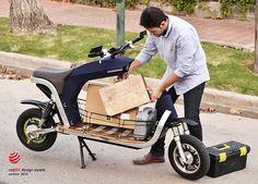 EQUS - Electric Cargo Motorcycle by Alejandra Hanashiro, Paula Cossarini, Mariano Pellegrino y Juan Ortiz Rincón