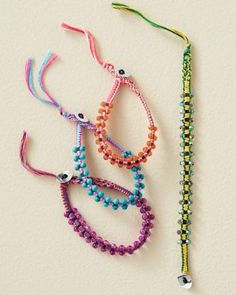 A fun birthday present or party favor! Multicolored Beaded Bracelet - Garnet Hill Kids