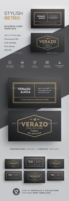 Retro Business Card Template PSD