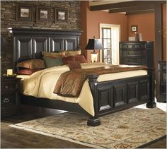 ashley furniture cavallino bedroom set with mansion poster bed storage footboard bed only bedroom furniture pinterest bed storage