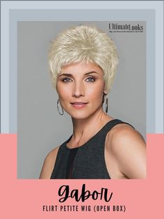 Flirt Wig by Gabor... Featuring precision layering with just a bit of curl, this light, short silhouette is the epitome of no-fuss styling. #hairstyles #hairdo #hairoftheday #styleinspo #styles #styleoftheday Gabor Wigs, Light Short, Hairline, Synthetic Hair, Hair Lengths, Flirting, Layering, Curls, Silhouette