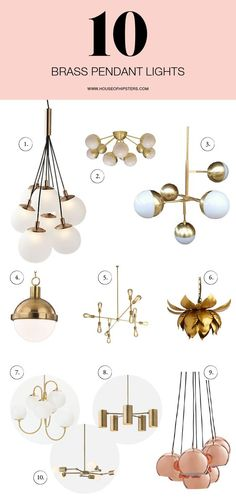 Now that the move is drawing near, my focus is on lighting, and not just any lighting…I'm talking beautiful brass lighting. After starting a Pin board to help me organize my thoughts, I think I might have confused myself even more. Here's what I've been eyeing. I swear, there's so many pretty kittens to choose from. MORE AFTER ... ** Be sure to check out this helpful article. #interiordecor