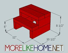 Build a Simple Step Stool out of 2x4s with MoreLikeHome.net.