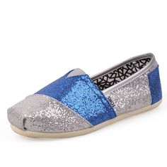 #TOMS #CheapTOMS Toms Glitter Women Shoes Blue Grey Is The Best Choice To Add Your Life More Colors.