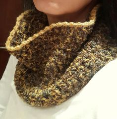 Crochet Cowl Neck Warmer Infinity Scarf Women's Clothing by Dushle