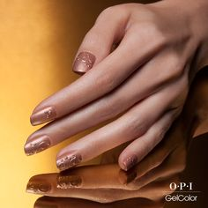 Be a #boss in this #rosegold embossed #GelColor #nailart. Ask your favorite pro to recreate: http://opi.is/embossed