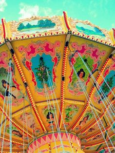 carnival - circus - remember the swings ride in the midway?  aren't these lovely colours?  so fun!