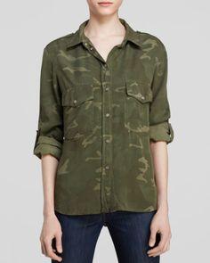 Sanctuary Boyfriend Camo Shirt | Bloomingdales's