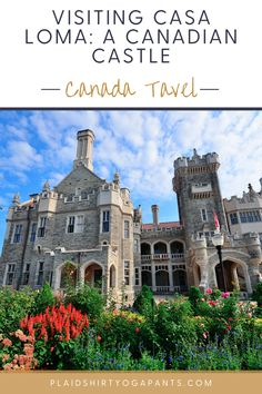 Did you know that Toronto has its own Castle - Casa Loma? Casa Loma is one of Toronto's major tourist attractions with thousands of visitors a year. Add Casa Loma as one of your top things to do while visiting Toronto. Casa Loma | Things to do in Toronto | Christmas Attractions | Canada Travel | Toronto Canada |What to do in Toronto | Visit Toronto| Casa Loma Tickets Vancouver Travel, Toronto Travel, Ontario Travel, Visit Toronto, Toronto Canada, Cool Places To Visit, Places To Travel, Toronto Vacation, South America Travel