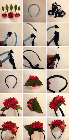 diadema flores frida khalo