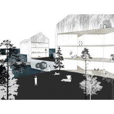 Floating housing project. Art/design community Brooklyn Navy Yard. By Jenya Uzhegova and Desiree Casoni. Parsons Masters of Architecture