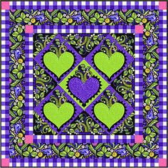 Early Birds by Jane Sassaman Free quilt patterns also on freespiritfabric.com