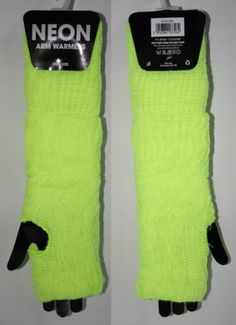 Womans FINGERLESS GLOVES Fashion Mittens PUNK NEON ROCK GOTHIC LONG Cyber Techno
