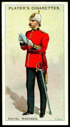 Cigarette Card - Royal Marines, 1914