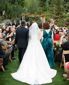 An Outdoor Jewish Wedding at Sundance Resort