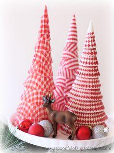 Decoración de Navidad: árbol navideño papel