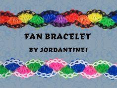 FAN Bracelet      (Rainbow Loom or Monster Tail)