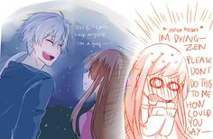 Lolololo Zen x MC <<<<<< i was about to drop dead in that VN he's too good for me >///< #mysticmessenger