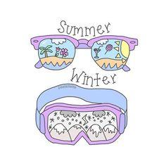 Картинка с тегом «summer and winter»