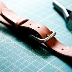 A fun DIY project, detailed images, step by step on how to make a leather belt.