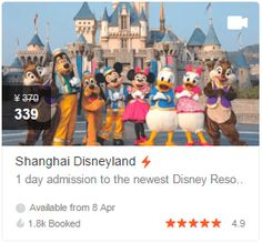 Enjoy Off Shanghai Disneyland tickets! Plus, get Klook discount coupon via Klook Promo Code. Disneyland Tickets, Attraction Tickets, Discount Coupons, Shanghai, Coding, Books, Movies, Movie Posters, Libros