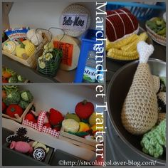 CROCHET PLAY FOOD PATTERN FREE PATTERNS  DINETTE MARCHANDE TUTOS DIY