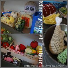 CROCHET PLAY FOOD PATTERN FREE PATTERNS  DINETTE MARCHANDE TUTOS DIY