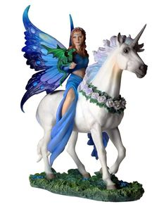 Realm Of Enchantment - Figurine fée et licorne - Anne Stokes