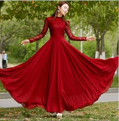 Women's Chiffon Lace Long sleeve  Ball Gown Evening Cocktail Formal Party Dress #NEW #BallGown #Cocktail
