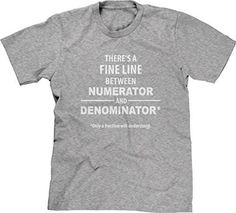 Cotton Men's T-shirt Fine Line - Only Fraction Understand Great gift dry on low heat