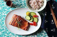 Fish Recipes, Seafood Recipes, Asian Recipes, Cooking Recipes, Chicken Recipes, Top Sushi, Eating At Night, Teriyaki Salmon