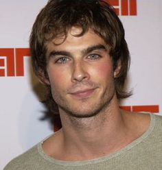 Ian in the younger brown-haired years - still hot