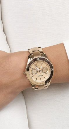 Fossil Watch. Would consider buying a gold watch for the times I wear gold jewelry