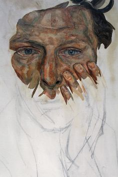 Lucian Freud, Self-Portrait, Detail, um Privatsammlung, Foto: Alexandra Matzner © The Lucian Freud Archive / The Bridgeman Art Library. Lucian Freud Portraits, Lucian Freud Paintings, Self Portraits, Self Portrait Art, Sigmund Freud, Acrylic Portrait Painting, Encaustic Painting, Portrait Inspiration, Life Drawing