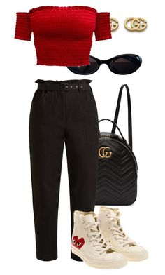 """""""Sans titre #3329"""" by mstfscxrus ❤ liked on Polyvore featuring Gucci, Isa Arfen and Converse"""