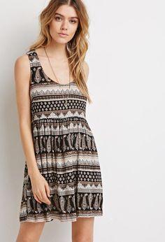 Paisley Print Babydoll Dress http://picvpic.com/women-dresses-day-dresses/paisley-print-babydoll-dress-338b1830-3bfe-4105-bf8a-a39aa127dd88#Black~taupe